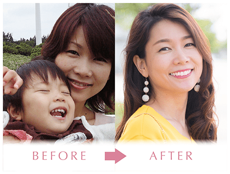 BEFORE→AFTERの画像